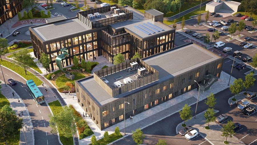 Harlow Science Park Nexus and Arise buildings