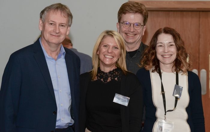 John Keddie, Sandra Wright, Dr William Lawton and Jemma Mindham at the Sixth Harlow Ambassador meeting