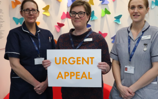 St Clare staff launching an urgent fundraising appeal