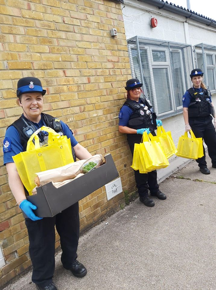 Essex Police delivering food parcels with Community Embrace