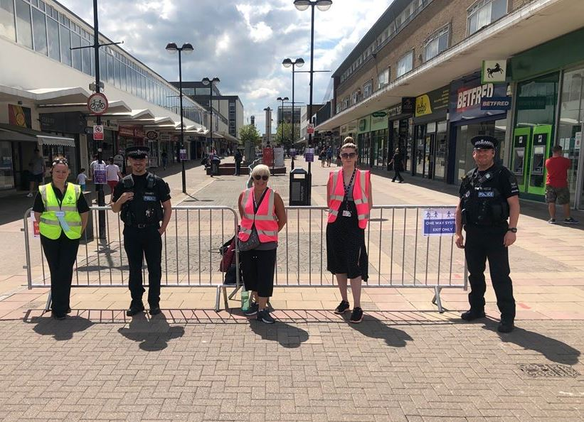 Essex Police opening the one way system in Harlow town centre